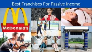 Collage of franchise businesses that can generate passive income